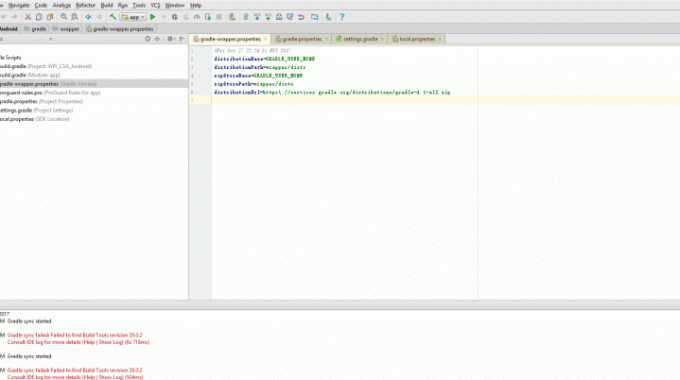 Gradle sync failed: failed to find Build Tools revision 24.0.0 rc1 –