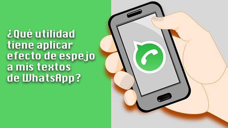 What is the advantage of mirroring my WhatsApp texts?
